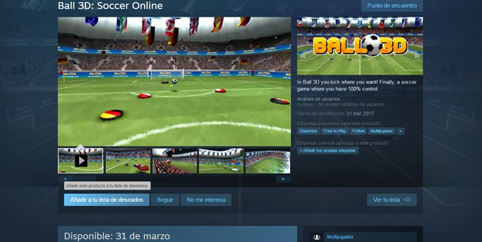 BALL3D EN STEAM!